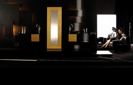 Sensual Luxury Bathroom Furniture by Pom d'Or