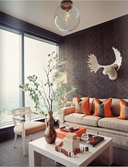 Serene Yet Colorful Living Room