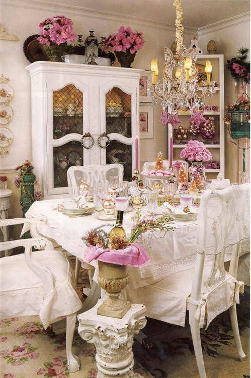 39 beautiful shabby chic dining room design ideas digsdigs Cottage home decor pinterest