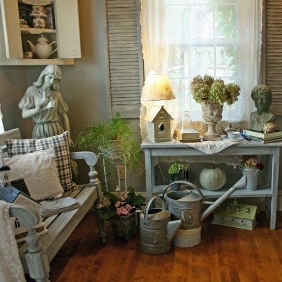 Shabby chic garden room design digsdigs for Decoration jardin shabby