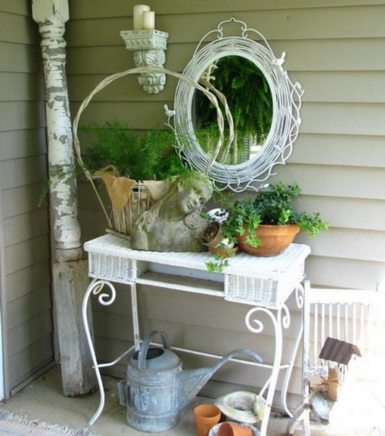 Shabby Chic Terrace With Victorian Charm