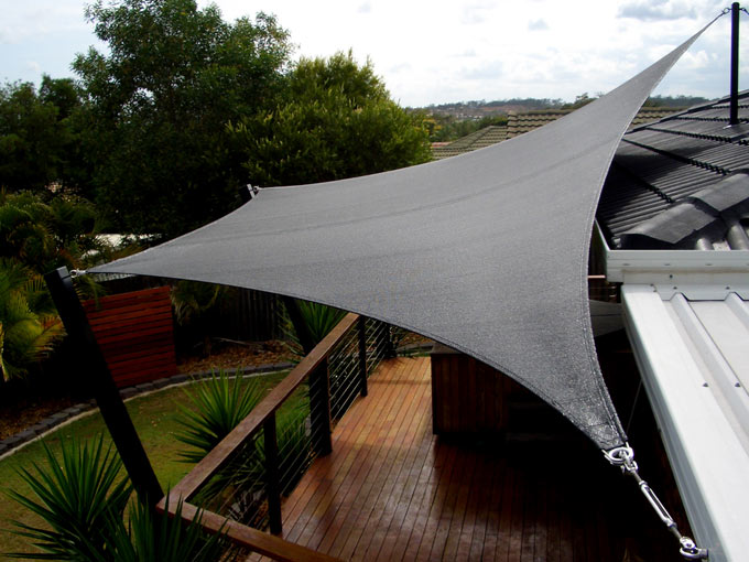 Shade sails by all shade solutions perfect to create shade in your courtyar - Toile exterieur terrasse ...