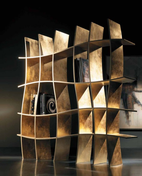 Bookcase With An Amazing Curved Frame – Sherwood by Khaos