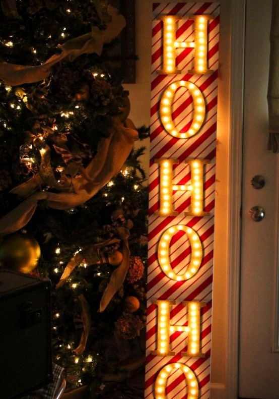 Shining Marquee Signs Ideas For Christmas Decor