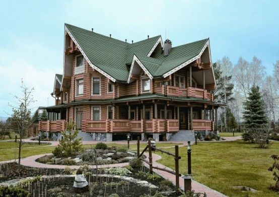 this large 640 square meter house is located in novokuznetsk russia its designed by tatiana rozhkova as a russian fairy tale that meet all modern - Russian House Design