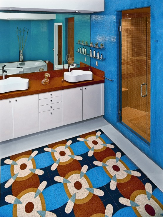 Simple And Colorful Bathroom Design