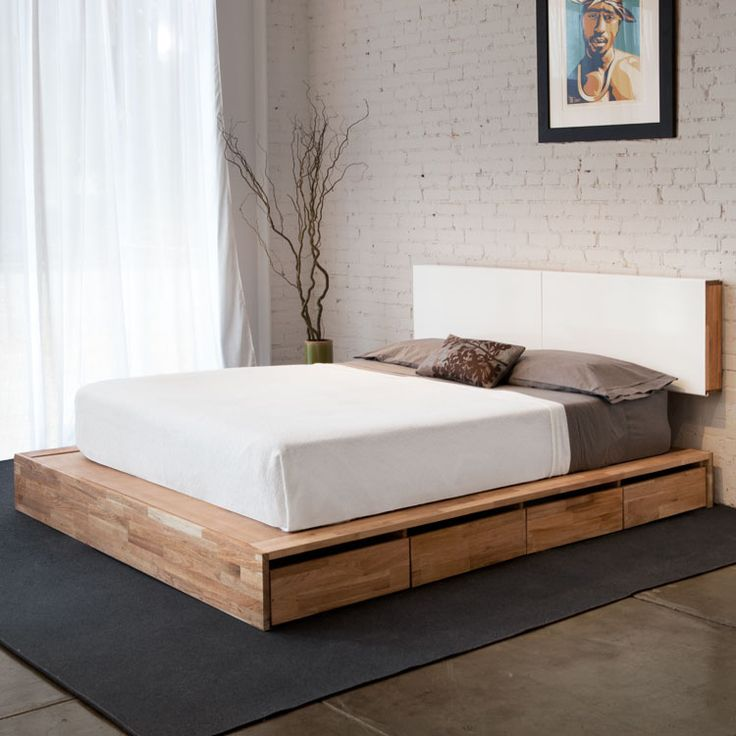 28 simple and elegant mid century modern beds digsdigs - Modern bed ...