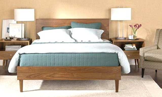 28 simple and elegant mid century modern beds digsdigs. Black Bedroom Furniture Sets. Home Design Ideas