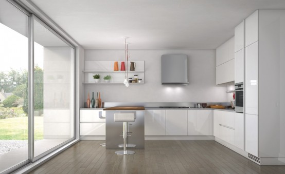 Simple and Sleek Kitchen Design - Emetrica by Ernestomeda - DigsDigs