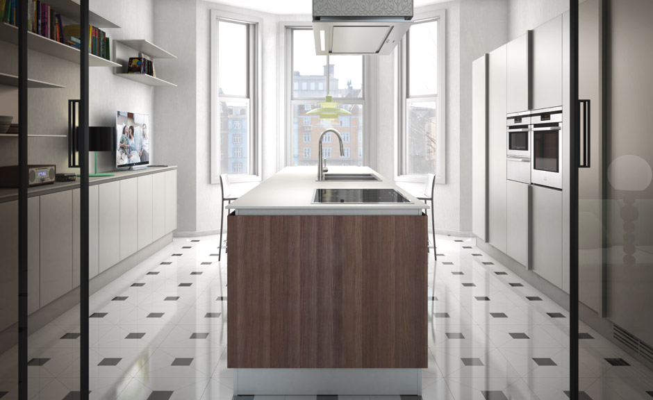 Simple and sleek kitchen design emetrica by ernestomeda for Sleek kitchen designs
