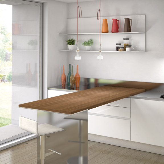 Simple and Sleek Kitchen Design – Emetrica by Ernestomeda | DigsDigs