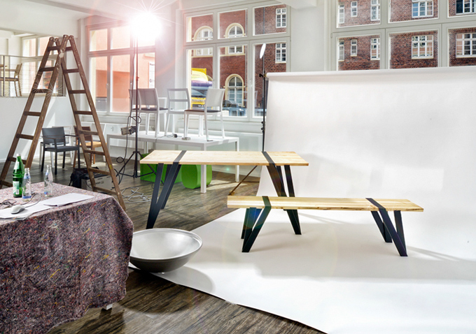 Simple Dining Table And Bench By Manuel Welsky