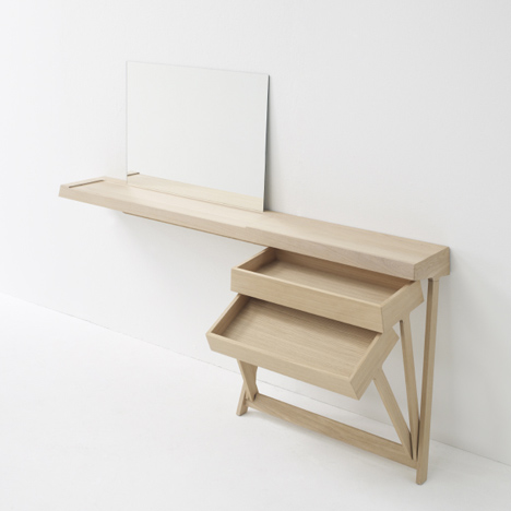 A Dressing Table And A Desk With Cool Hinged Drawers