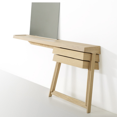 Dressing Table And A Desk With Cool Hinged Drawers - DigsDigs