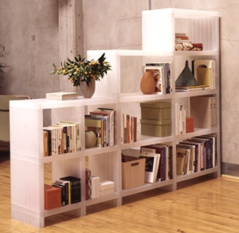 Living Room Shelf Wall – An Idea for Storage Space and Wall Decoration in One