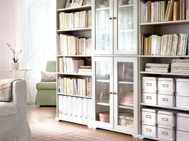 49 simple but smart living room storage ideas digsdigs. Black Bedroom Furniture Sets. Home Design Ideas