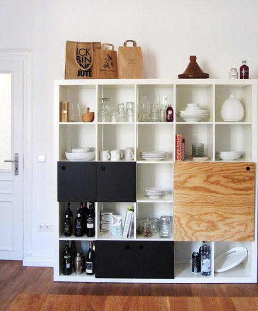 IKEA's Kallax are quite versatile storage units. There are really many ideas and hacks to make them looks great.