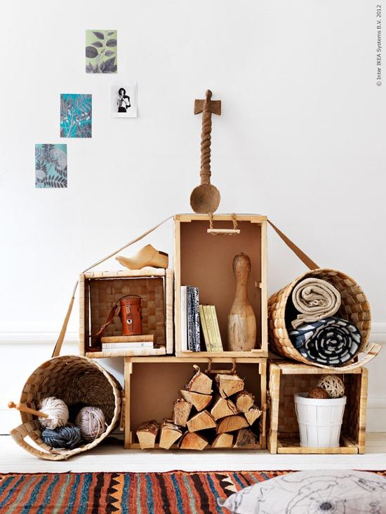 Crates Are Perfect To Create Rough Looking, Rustic, Modular Storage  Systems. Besides
