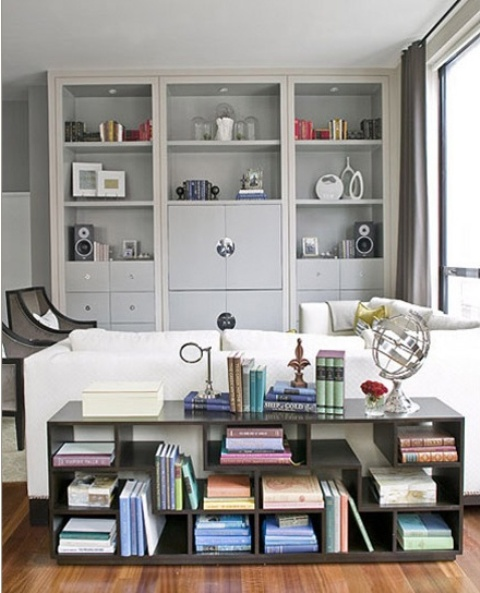 If you have an open plan living room then console table is a must. Position it right behind the sofa that is usually in the middle of the room. You'll be able to display books, magazines, and some cool travel finds. Besides, you'll be able to use its surface for placing drinks.