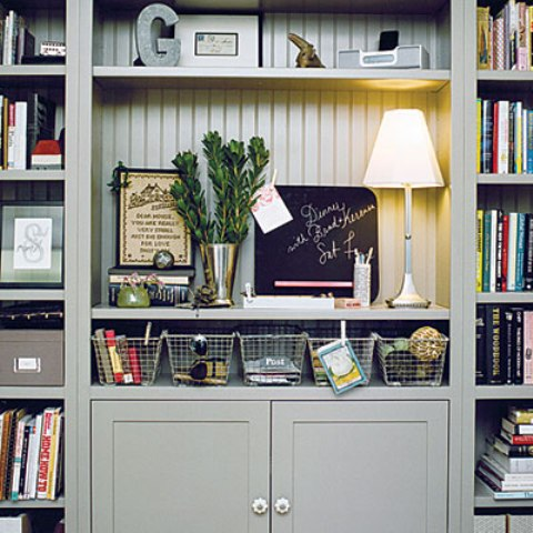 Any family room needs lots of storage for the stuff of all family members. Built-ins is the most effective choice.