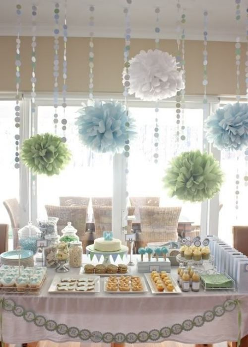 simple modern boy baby shower