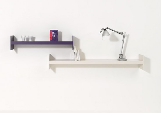 Simple Shelf System That Offers A Lot Of Room For Books – Wink by Performa