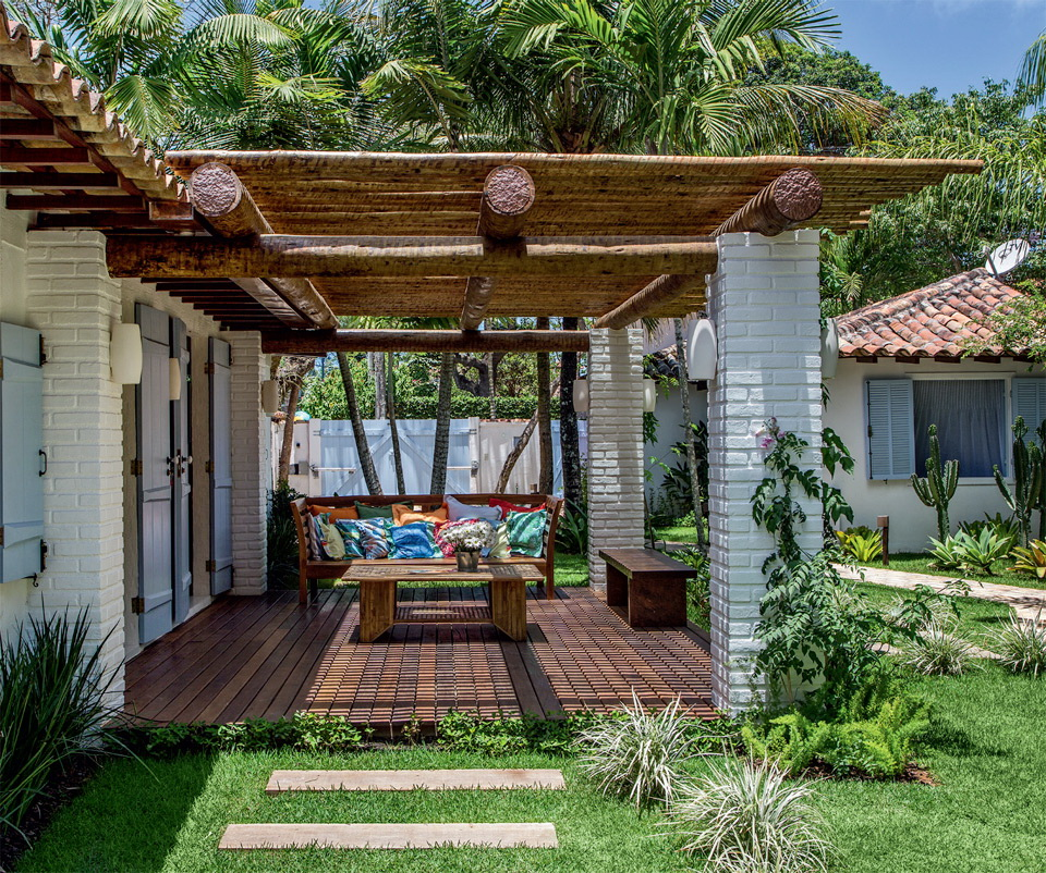 Simple White Bungalow In Brazil