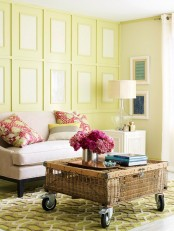 Simple Yet Bright Living Room Design