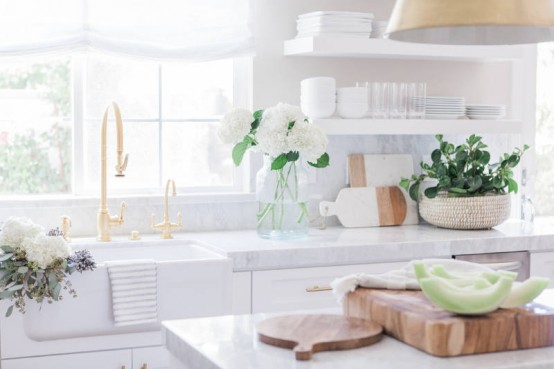 Simple White Kitchen Designs super simple yet very refined white kitchen design - digsdigs