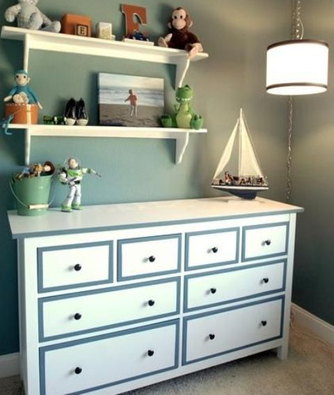 Kids need lots of storage for their toys so the dresser is a great addition to a kids room.
