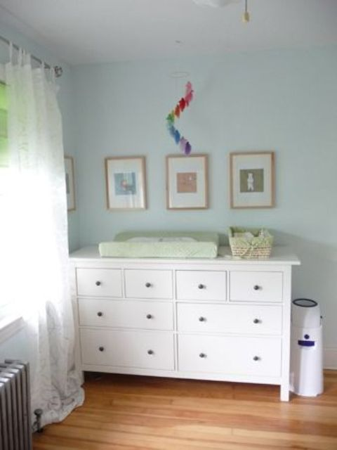 Plain white IKEA Hemnes dresser fit any interior's style.