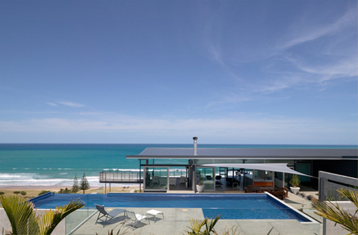 Single Story Modern Beach House Designs on Modern One Story Beach House Design