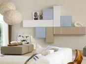 Sistema Concept By Doimo Design 01 Bianco Sabbia And Glicine Glossy Lacquered