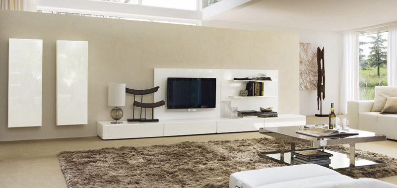 Sistema Concept By Doimo Design 02 Bianco Glossy Lacquered