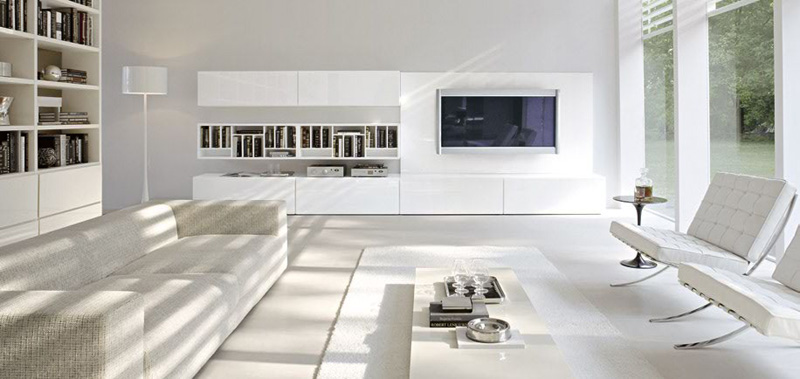 Sistema Concept By Doimo Design 07 Bianco Glossy Lacquered