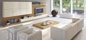 Sistema Concept By Doimo Design 11 Noce And Bianco Perla Glossy Lacquered