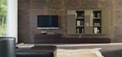 Sistema Concept By Doimo Design 15 Rovere Moka And Grigio Beige Glossy Lacquered