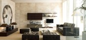 Sistema Concept By Doimo Design 16 Rovere Moka And Grigio Beige Glossy Lacquered