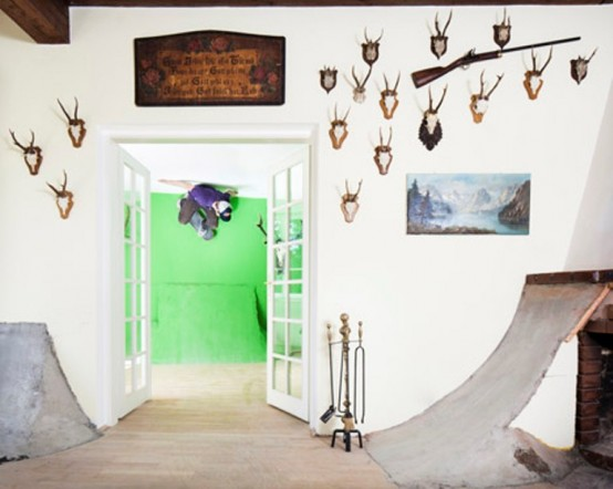 Skateboarder's Dream House With Vintage Touches