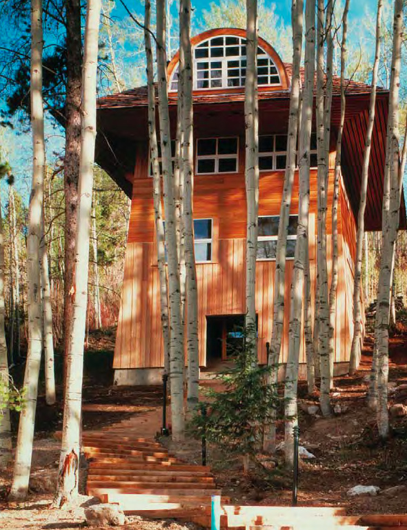 Four-Story Home In Mountains With Wooden Interior – Ski House
