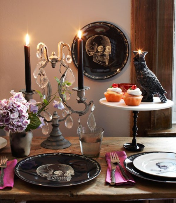 How to decorate your halloween with skulls and skeletons digsdigs - Decoration de halloween ...
