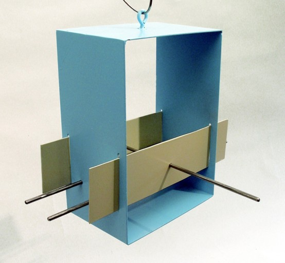Sleek And Modern Bird Feeder