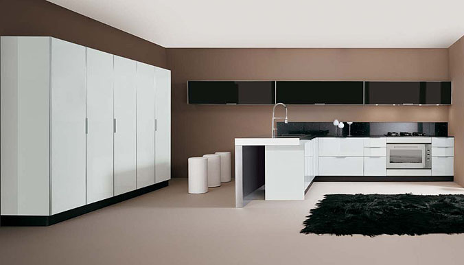 Sleek Glossy Kitchen Design
