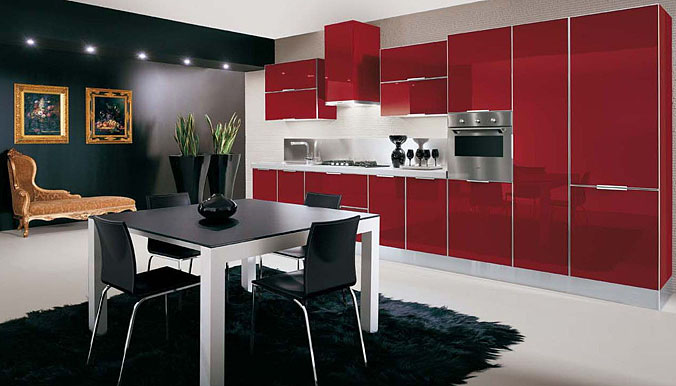 contemporary kitchen ideas, glossy kitchen cabinets, glossy kitchens,