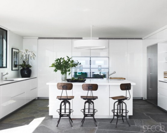 Sleek Minimalist White Kitchen