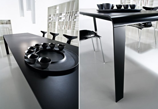 Slim Black Contemporary Table