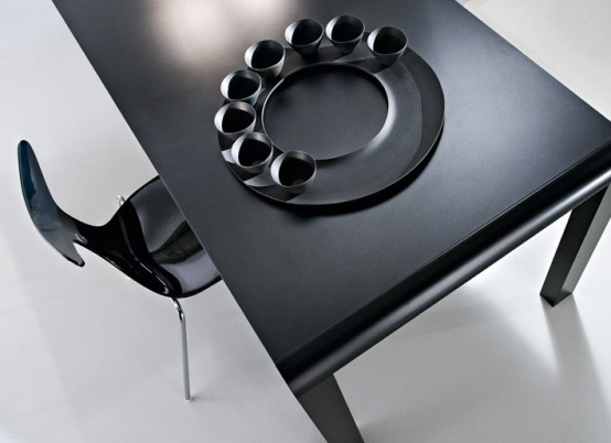 Slim Black Futuristic Table