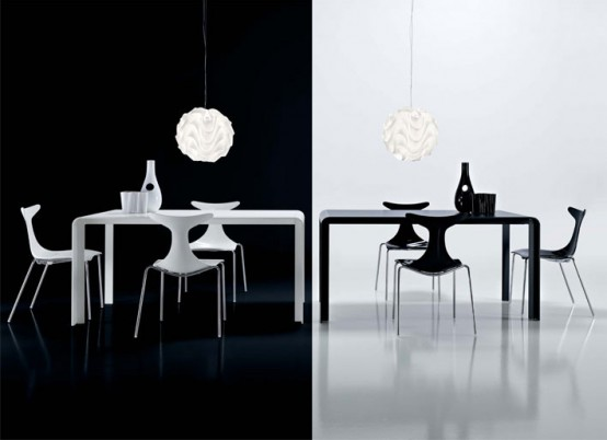 Slim Bw Futuristic Dining Table