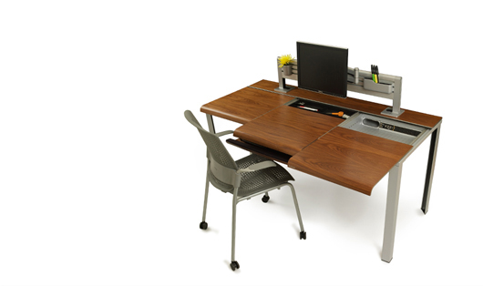 Slim Desk With Smart Storage
