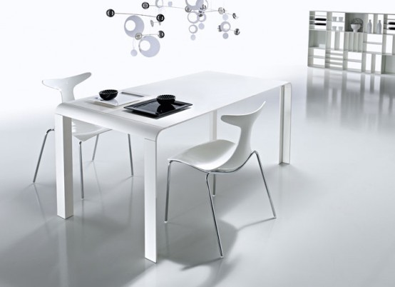 SLIM white table from Kreaty